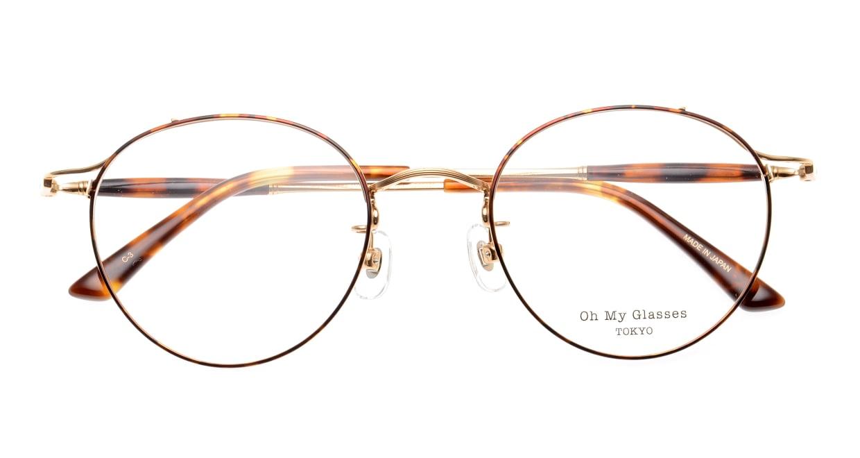 Oh My Glasses TOKYO Spencer II Brown Demi [メタル/鯖江産/丸メガネ/べっ甲柄]  4
