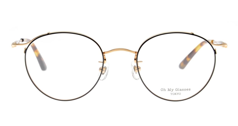 Oh My Glasses TOKYO Spencer II Black/Gold [メタル/鯖江産/丸メガネ]