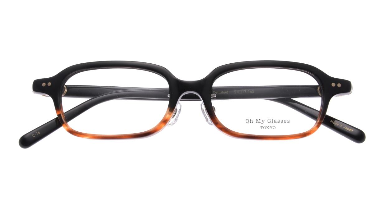 Oh My Glasses TOKYO Harris omg-097-76 [黒縁/鯖江産/スクエア]  4