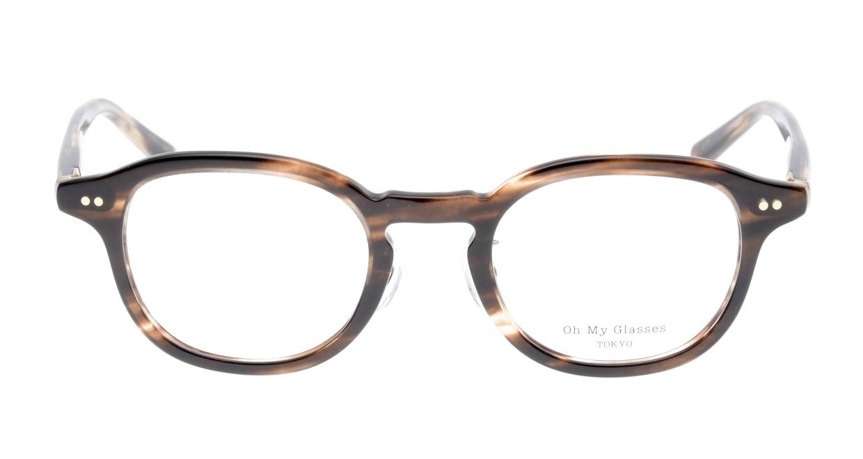 Oh My Glasses TOKYO Alen omg-098-75 [鯖江産/丸メガネ/茶色]
