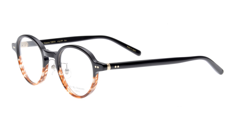 Oh My Glasses TOKYO Ben omg-099-76 [黒縁/鯖江産/丸メガネ]  1