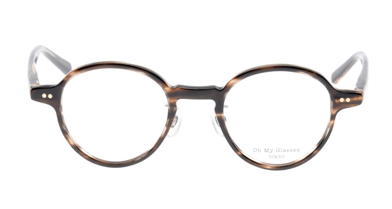 Oh My Glasses TOKYO Ben omg-099-75 [鯖江産/丸メガネ/茶色]