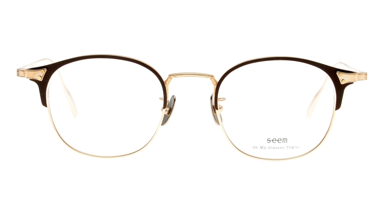 seem Oh My Glasses TOKYO Elena omg-100-30-10 [メタル/鯖江産/ウェリントン/茶色]