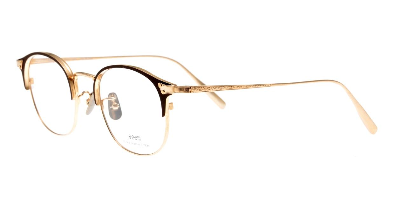 seem Oh My Glasses TOKYO Elena omg-100-30-10 [メタル/鯖江産/ウェリントン/茶色]  1