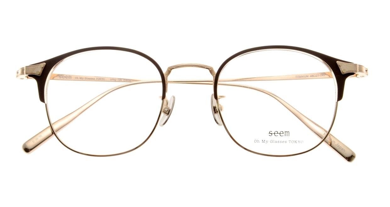 seem Oh My Glasses TOKYO Elena omg-100-30-10 [メタル/鯖江産/ウェリントン/茶色]  4