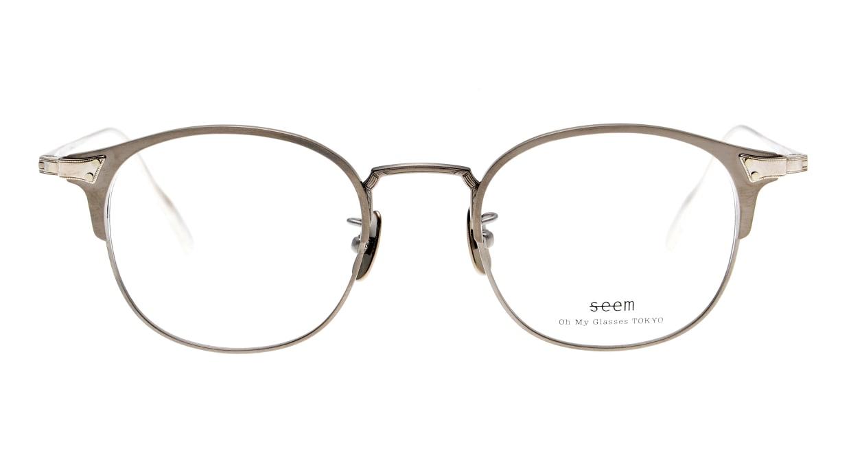 seem Oh My Glasses TOKYO Elena omg-100-21-20 [メタル/鯖江産/ウェリントン/シルバー]