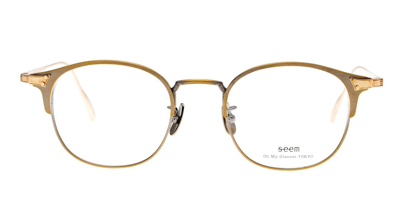 seem Oh My Glasses TOKYO Elena omg-100-12-10 [メタル/鯖江産/ウェリントン/ゴールド]