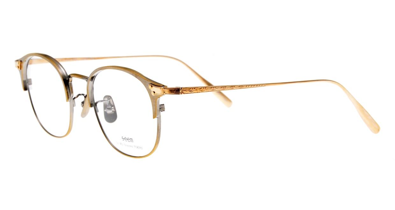 seem Oh My Glasses TOKYO Elena omg-100-12-10 [メタル/鯖江産/ウェリントン/ゴールド]  1
