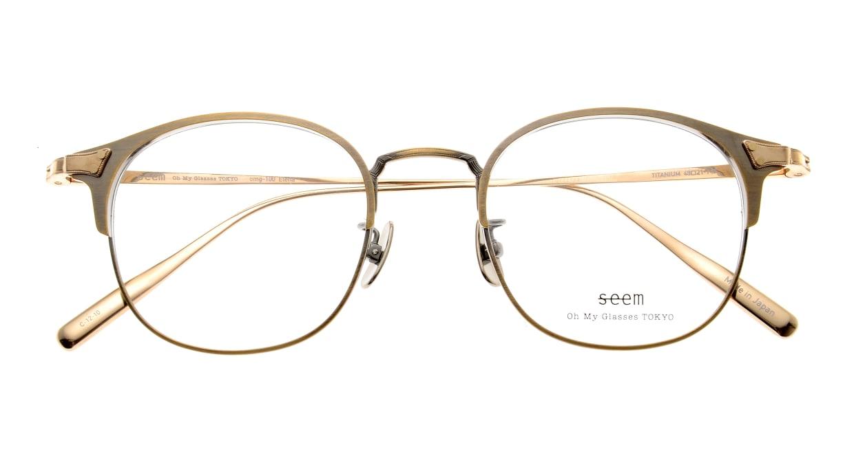 seem Oh My Glasses TOKYO Elena omg-100-12-10 [メタル/鯖江産/ウェリントン/ゴールド]  4
