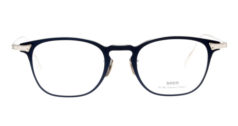 seem Oh My Glasses TOKYO Anne omg-101-51-20 [メタル/鯖江産/ウェリントン/青]