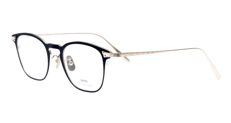 seem Oh My Glasses TOKYO Anne omg-101-51-20 [メタル/鯖江産/ウェリントン/青]  1