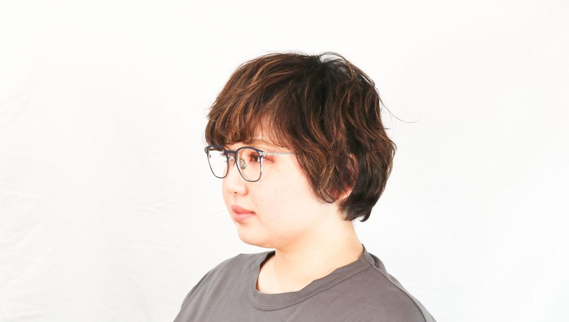 seem Oh My Glasses TOKYO Anne omg-101-51-20 [メタル/鯖江産/ウェリントン/青]  8