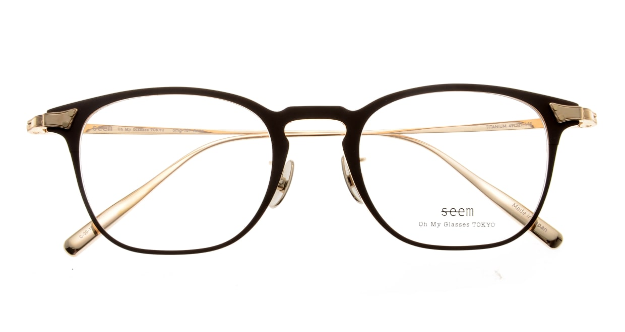seem Oh My Glasses TOKYO Anne omg-101-30-10 [メタル/鯖江産/ウェリントン/茶色]  4