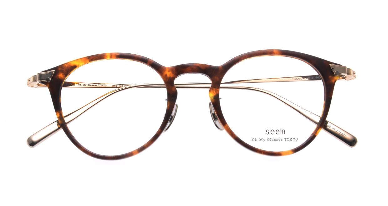 seem Oh My Glasses TOKYO Bill omg-102-13-14 [鯖江産/丸メガネ/べっ甲柄]  4