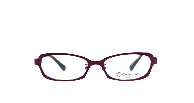 オニメガネ OG7007-DR-54 [メタル/鯖江産/スクエア/紫]