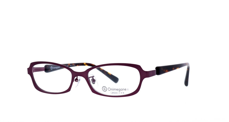 オニメガネ OG7007-DR-54 [メタル/鯖江産/スクエア/紫]  1