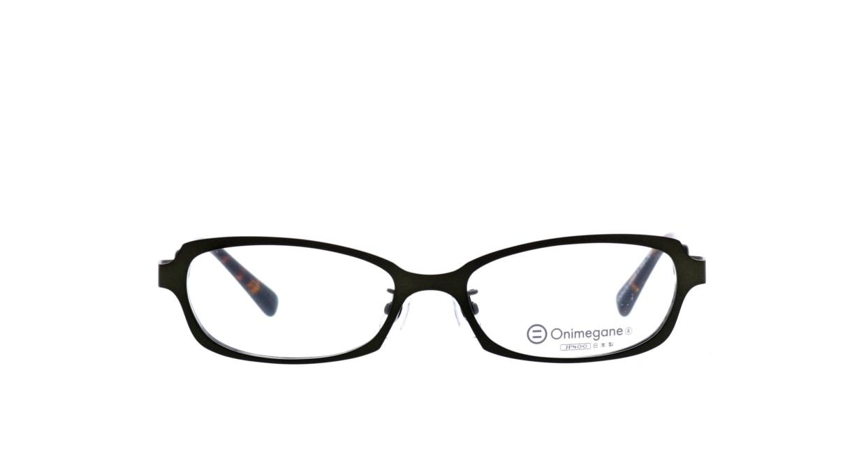 オニメガネ OG7007-GR-54 [メタル/鯖江産/スクエア/緑]