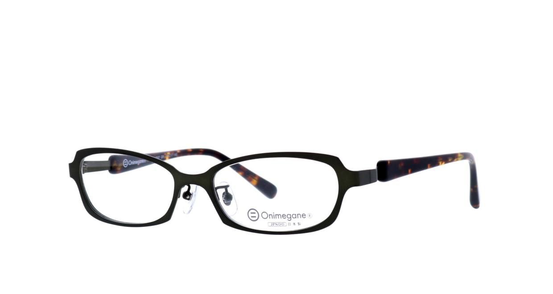 オニメガネ OG7007-GR-54 [メタル/鯖江産/スクエア/緑]  1
