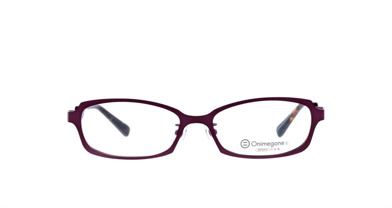 オニメガネ OG7008-DR-56 [メタル/鯖江産/オーバル/紫]