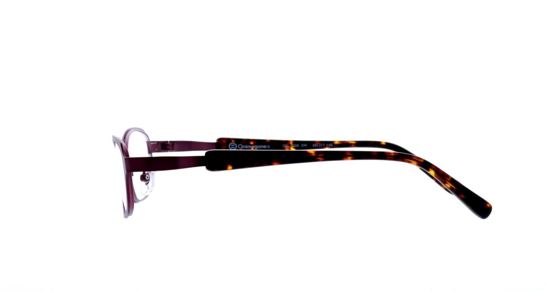 オニメガネ OG7008-DR-56 [メタル/鯖江産/オーバル/紫]  2