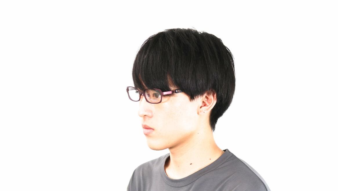 オニメガネ OG7008-DR-56 [メタル/鯖江産/オーバル/紫]  5