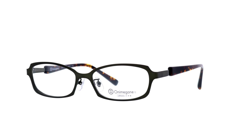 オニメガネ OG7008-GR-56 [メタル/鯖江産/オーバル/緑]  1