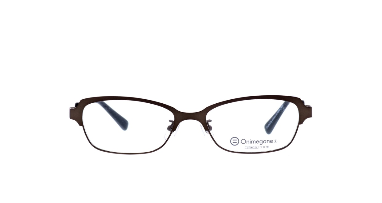 オニメガネ OG7009-DBR-54 [メタル/鯖江産/ウェリントン/茶色]