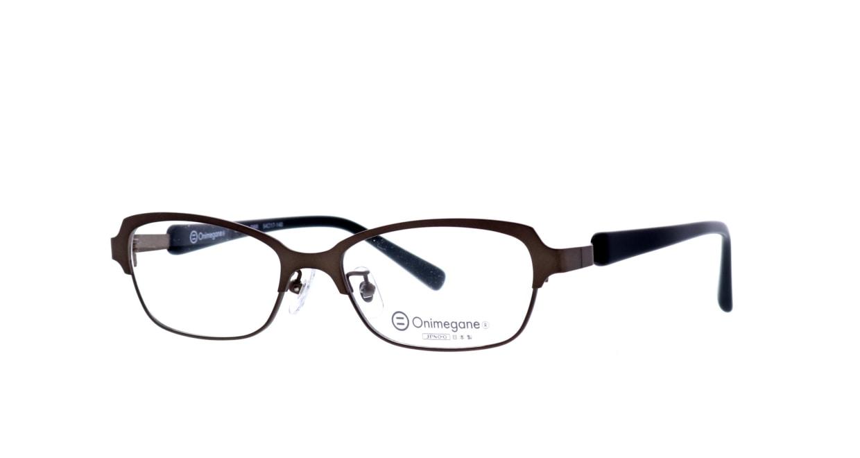オニメガネ OG7009-DBR-54 [メタル/鯖江産/ウェリントン/茶色]  1