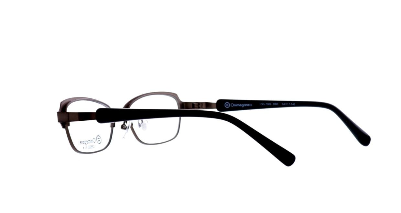 オニメガネ OG7009-DBR-54 [メタル/鯖江産/ウェリントン/茶色]  3