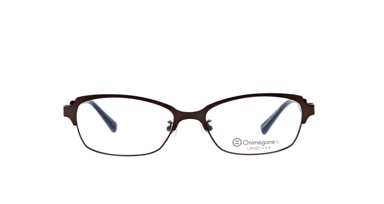オニメガネ OG7010-DBR-56 [メタル/鯖江産/ウェリントン/茶色]