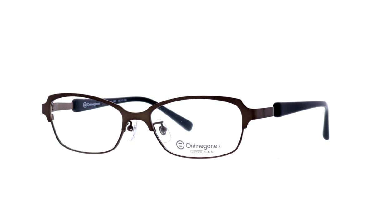 オニメガネ OG7010-DBR-56 [メタル/鯖江産/ウェリントン/茶色]  1