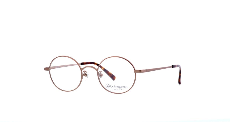 オニメガネ OG7211-ABR-46 [メタル/鯖江産/丸メガネ/茶色]  1