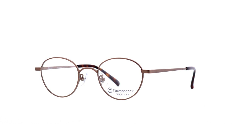 オニメガネ OG7213-ABR-46 [メタル/鯖江産/丸メガネ/茶色]  1