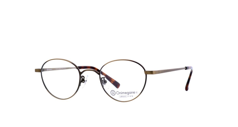 オニメガネ OG7213-AGR-46 [メタル/鯖江産/丸メガネ/茶色]  1