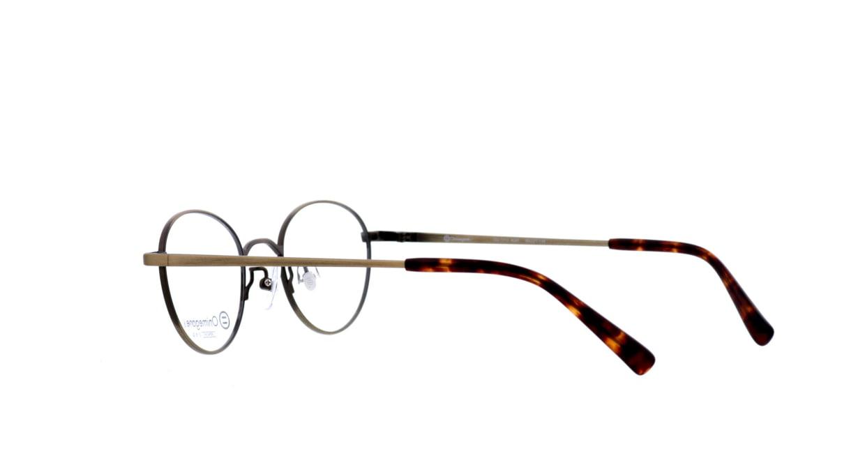 オニメガネ OG7213-AGR-46 [メタル/鯖江産/丸メガネ/茶色]  3