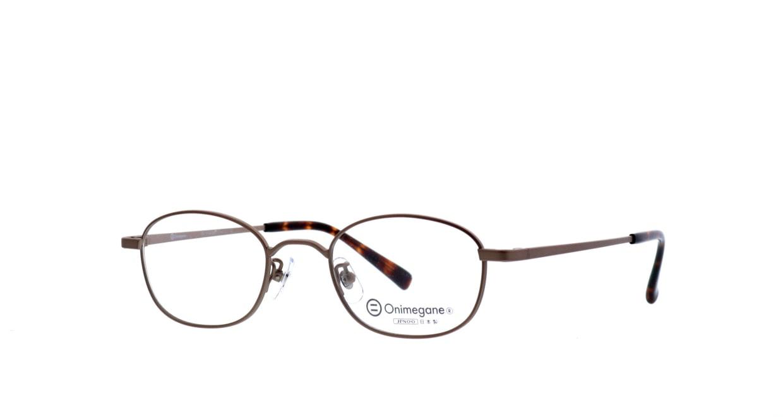 オニメガネ OG7215-ABR-48 [メタル/鯖江産/ウェリントン/茶色]  1