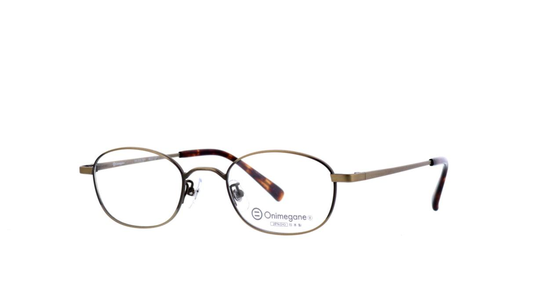 オニメガネ OG7215-AGR-48 [メタル/鯖江産/ウェリントン/茶色]  1