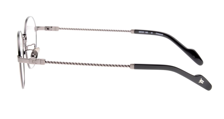 ヨウジヤマモト 19-0026-2 Brush Gun Metal [メタル/鯖江産/丸メガネ/シルバー]  2