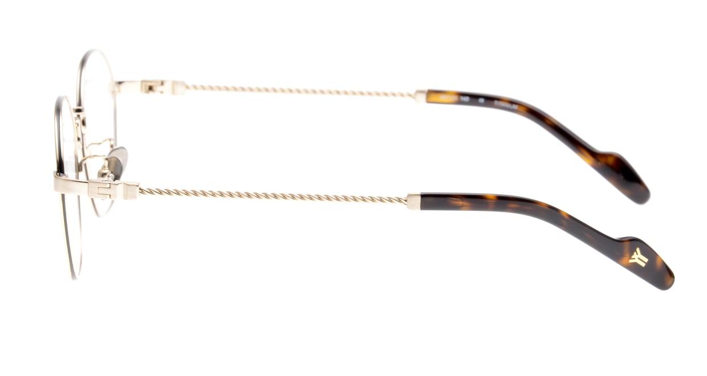 ヨウジヤマモト 19-0026-4 Brush Light Gold [メタル/鯖江産/丸メガネ/ゴールド]  2