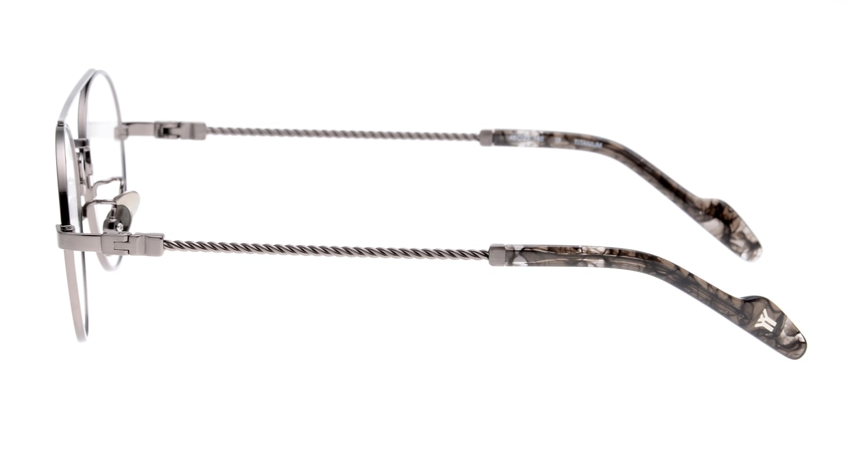 ヨウジヤマモト 19-0027-2 Brush Gun Metal [メタル/鯖江産/ティアドロップ/シルバー]  2