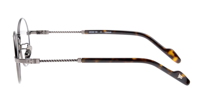 ヨウジヤマモト 19-0028-2 Brush Gun Metal [メタル/鯖江産/丸メガネ/シルバー]  2