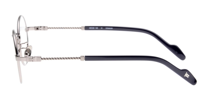 ヨウジヤマモト 19-0028-3 Brush Gray [メタル/鯖江産/丸メガネ/グレー]  2