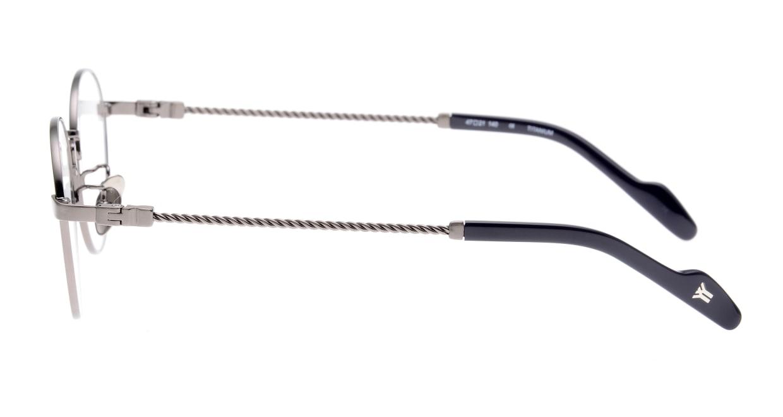 ヨウジヤマモト 19-0029-2 Brush Gun Metal [メタル/鯖江産/丸メガネ/シルバー]  2