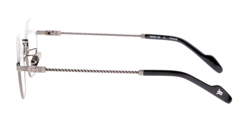 ヨウジヤマモト 19-0030-2 Brush Gun Metal [メタル/鯖江産/丸メガネ/シルバー]  2