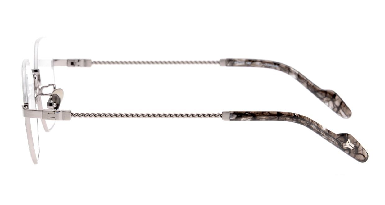 ヨウジヤマモト 19-0030-3 Brush Gray [メタル/鯖江産/丸メガネ/グレー]  2