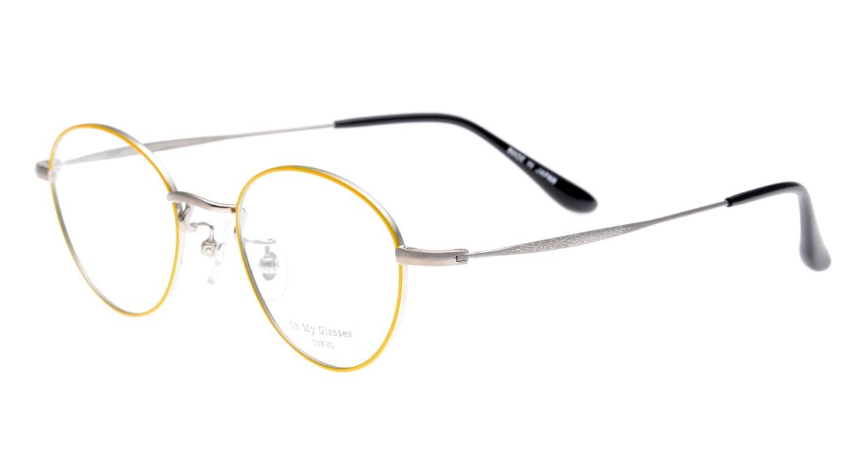 Oh My Glasses TOKYO George omg-063-53-44 [メタル/鯖江産/丸メガネ/黄色]  1