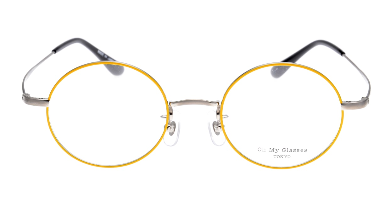 Oh My Glasses TOKYO Neal omg-067-53-44 [メタル/鯖江産/丸メガネ/黄色]
