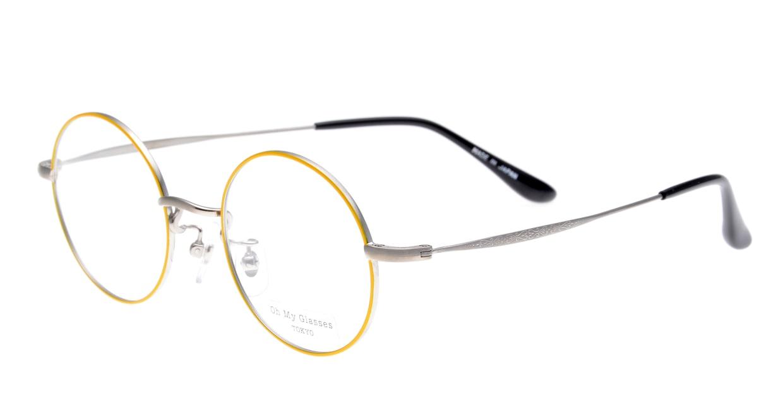 Oh My Glasses TOKYO Neal omg-067-53-44 [メタル/鯖江産/丸メガネ/黄色]  1