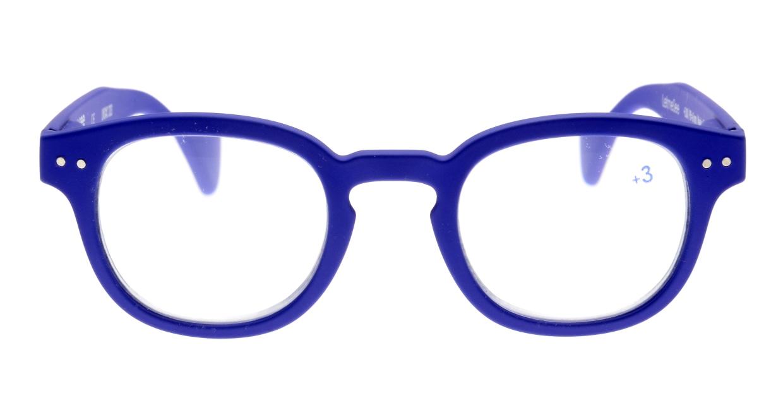 イジピジ +3.0#C Reading-Navy Blue [ウェリントン/青]