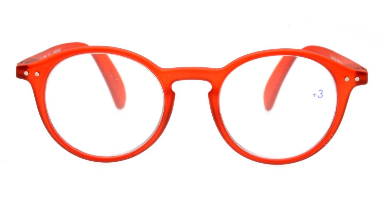 イジピジ +3.0#D Reading-Red [丸メガネ/赤]